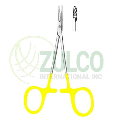 """Baby-Olsen-Hegar Needle Holders SJ 11.5cm/4 1/2"""" TC GOLD - Item Code 09-2692-11"""