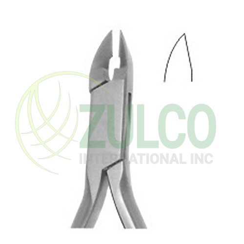 Orthodontic Cutters With T.C Fig. 85 TC Angled At 15 13 CM